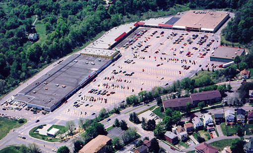 West View Park Shopping Center Aerial View
