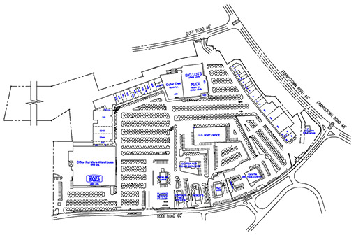Site Plan drawing for Penn Hills Center